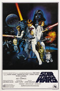 "Movie Posters:Science Fiction, Star Wars (20th Century Fox, 1977). One Sheet (27"" X 41"") Style C. This was the poster that Fox released to show the entire ..."