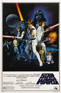 "Star Wars (20th Century Fox, 1977). One Sheet (27"" X 41"") Style C. This was the poster that Fox released to sh..."