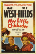 "Movie Posters:Comedy, My Little Chickadee (Universal, 1940). One Sheet (27"" X 41"") StyleC. Filled with memorable quotes and quips, Mae West and W..."