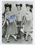 "Movie/TV Memorabilia:Autographs and Signed Items, Annette Funicello Signed Mickey Mouse Club Photo. A b&w 8"" x10"" photo of Annette alongside fellow Mouseketeers Tommy and Do..."