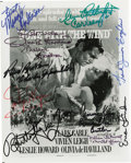 """Movie/TV Memorabilia:Autographs and Signed Items, """"Gone With the Wind"""" Cast Signed Photo. A b&w 8"""" x 10"""" promophoto featuring the poster art for the 1939 classic, signed by ..."""