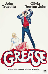 "Grease (Paramount, 1978). One Sheet (27"" X 41"") Advance. ""It doesn't matter if you win or lose, it's what..."