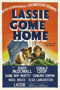 "Movie Posters:Adventure, Lassie Come Home (MGM, 1943). One Sheet (27"" X 41"") Style D.Starting a long line of ""Lassie"" films based on author Eric Kni..."