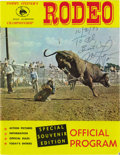 Movie/TV Memorabilia:Autographs and Signed Items, Michael Landon Signed Rodeo Program. A souvenir program book forTommy Steiner's Championship Rodeo, dated October 2, 1973 a...