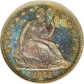 Patterns: , 1864 50C Half Dollar, Judd-392, Pollock-460, Low R.7, PR66 BrownPCGS. Struck from the regular obverse die, and paired with...