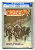 Magazines:Horror, Creepy #15 (Warren, 1967) CGC NM/MT 9.8 Off-white pages. This issue's Frank Frazetta cover was painted on plywood -- legend ...