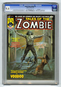 Magazines:Horror, Tales of the Zombie #4 Massachusetts pedigree (Marvel, 1974) CGC NM 9.4 Off-white to white pages. Pablo Marcos biography and...