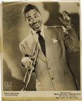 """Music Memorabilia:Autographs and Signed Items, Dizzy Gillespie Signed Photo. A b&w 8"""" x 10"""" promo photoinscribed and signed by Gillespie in green ink. In Fine to VeryFin..."""