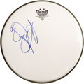"""Music Memorabilia:Autographs and Signed Items, Rolling Stones Related - Charlie Watts Autographed Drumhead. A10.5"""" Remo drumhead, signed by Rolling Stones drummer Charlie..."""