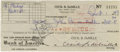 Movie/TV Memorabilia:Autographs and Signed Items, Cecil B. DeMille Signed Checks. A pair of personal checks, bothdated October 1, 1949, written to his wife Constance and son...