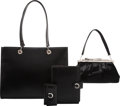 Luxury Accessories:Accessories, Cartier Set of Four: Black Ponyhair Clutch, Black Leather Tote Bag, Agenda & Key Holder. Condition: 3. See Extended Co... (Total: 4 )