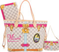 Luxury Accessories:Bags, Louis Vuitton Set of Two: Limited Edition Miami Summer Trunks Neverfull MM & Pochette. Condition: 1. See Extended Cond... (Total: 2 )