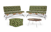 BAPE ABC Camo (Green), 2013 Two couches, bean cushion sofa, and a table 28 x 48 x 32 inches (71