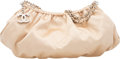 """Luxury Accessories:Bags, Chanel Champagne Quilted Satin Small Shoulder Bag with SilverHardware. Condition: 2. 11"""" Width x 7..."""