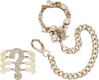 Set of Two: Moschino Pearl Bracelet & Philipp Plein Handcuff Chain Condition: 2 See Extended Condition Report fo...