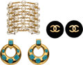 Luxury Accessories:Accessories, Chanel Set of Three: Clip-On Earrings & Pearl Bracelet. Condition: 3. See Extended Condition Report for Sizes.... ... (Total: 3 )
