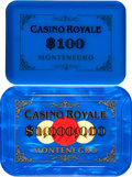"""Movie Posters:James Bond, Casino Royale (MGM, 2006). Very Fine/Near Mint. Screen-Used $1,000,000 Casino Plaque (3.25"""" X 4.5"""" X 1/4"""") & Mockup Casino P... (Total: 2 Items)"""