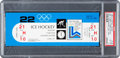 """Hockey Collectibles:Others, 1980 Lake Placid Winter Olympic Games """"Miracle On Ice"""" Full Ticket, PSA EX-MT 6...."""