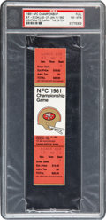 """Football Collectibles:Tickets, 1981 NFC Championship Game """"The Catch"""" Full Ticket, PSA NM-MT 8. ..."""
