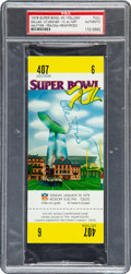 Football Collectibles:Tickets, 1978 Super Bowl XII Full Ticket, PSA Authentic.. ...