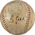 Baseball Collectibles:Balls, Early 1920's Hall of Famers Multi-Signed Baseball with Cobb, Johnson, Speaker & More....