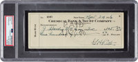 1936 Babe Ruth Signed Check, PSA/DNA Authentic