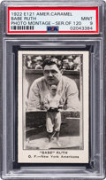 Baseball Cards:Singles (Pre-1930), 1922 E121 American Caramel Babe Ruth (Photo Montage) PSA Mint 9....
