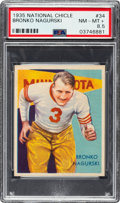 Football Cards:Singles (Pre-1950), 1935 National Chicle Bronko Nagurski #34 PSA NM-MT+ 8.5....