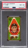 Baseball Cards:Singles (Pre-1930), 1911 T205 Piedmont Gold Border Ty Cobb PSA NM-MT 8....
