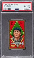 Baseball Cards:Singles (Pre-1930), 1911 T205 Sweet Caporal Gold Border Cy Young PSA NM-MT 8....