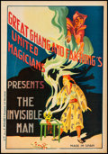"""Movie Posters:Miscellaneous, Chang and Fak Hong's The Invisible Man (1930s). Very Fine- on Linen. Magic Poster (17.5"""" X 25""""). Miscellaneous.. ..."""