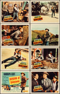 Decision at Sundown & Other Lot (Columbia, 1957). Very Fine-. Lobby Card Sets of 8 (2 Sets) & Lobby Card...