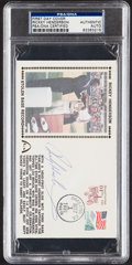 Autographs:Post Cards, 1991 Rickey Henderson Signed First Day Cover, PSA/DNA Authentic....