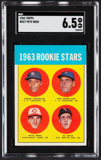 1963 Topps Pete Rose - 1963 Rookie Stars #537 SGC EX/NM+ 6.5