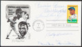 Autographs:Post Cards, 1982 Honoring Jackie Robinson Multi-Signed First Day Cover (5 Signatures)....