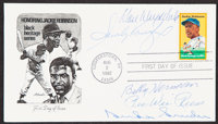 1982 Honoring Jackie Robinson Multi-Signed First Day Cover (5 Signatures)