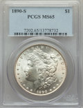 Morgan Dollars: , 1890-S $1 MS65 PCGS. PCGS Population: (942/247). NGC Census: (370/56). CDN: $700 Whsle. Bid for problem-free NGC/PCGS MS65....