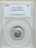 Canada, George VI 5 Cents 1952 MS66 PCGS, Royal Canadian M...