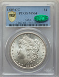 1885-CC $1 MS64 PCGS. CAC. GSA. PCGS Population: (8353/5884 and 388/380+). NGC Census: (3734/2580 and 80/90+). CDN: $600...