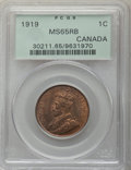 Canada, George V Cent 1919 MS65 Red and Brown PCGS, Ottawa...