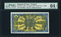 World Currency, Thailand Kingdom of Siam 1 Baht 29.8.1929 Pick 16b PMG Choice Uncirculated 64 EPQ.. ...