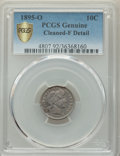 1895-O 10C -- Cleaned -- PCGS Genuine. Fine Details. NGC Census: (14/113 and 0/0+). PCGS Population: (35/262 and 0/1+)...