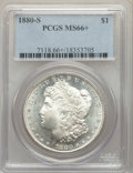 Morgan Dollars: , 1880-S $1 MS66+ PCGS. PCGS Population: (11162/2612 and 523/359+). NGC Census: (11837/3551 and 345/136+). MS66. Mintage 8,90...