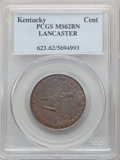 (1792-94) Kentucky Token, LANCASTER Edge, MS62 Brown PCGS. PCGS Population: (19/70). NGC Census: (14/26)