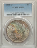 1885-O $1 MS66 PCGS. PCGS Population: (2839/373). NGC Census: (4702/576). CDN: $190 Whsle. Bid for problem-free NGC/PCGS...