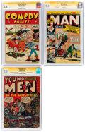Golden Age (1938-1955):Miscellaneous, Timely/Atlas CGC-Graded Signature Series Group of 3 (Timely/Atlas, 1944-52) CGC GD+ 2.5.... (Total: 3 )
