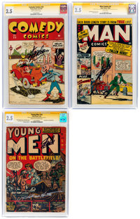 Timely/Atlas CGC-Graded Signature Series Group of 3 (Timely/Atlas, 1944-52) CGC GD+ 2.5.... (Total: 3 )