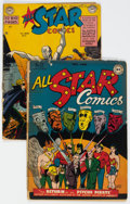 Golden Age (1938-1955):Superhero, All Star Comics #32 and 51 Group (DC, 1947-50) Condition: Average FR/GD.... (Total: 2 Comic Books)