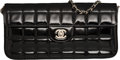 """Luxury Accessories:Bags, Chanel Black Quilted Patent Leather Rectangular Clutch with Silver Hardware. Condition: 3. 10.5"""" Width x 5"""" Height x 1..."""