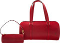 """Luxury Accessories:Bags, Louis Vuitton Red Epi Leather Papillon 30 Bag. Condition: 2.12"""" Width x 6"""" Height x 6"""" Depth"""
